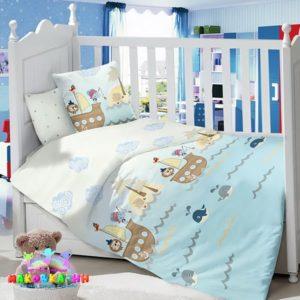 Набор в кроватку для новорожденных«Пираты»