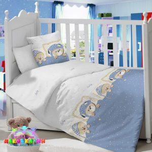 Комплект постельного белья в детскую кроватку «Мишкины сны»