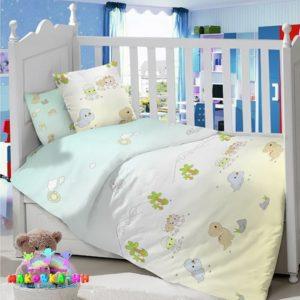 КПБв кроватку для новорожденных«Малыши Дино»