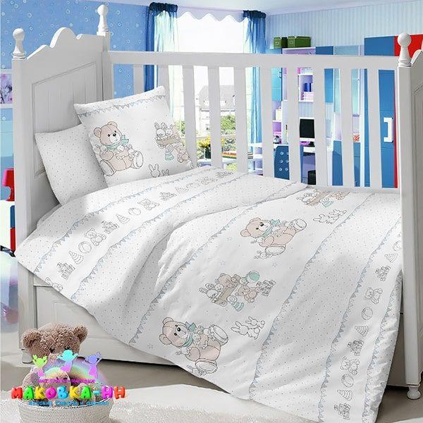 Комплектв кроватку из 100% хлопка«Мои игрушки»