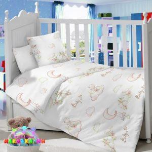 Комплектв кроватку из сатина«Райские птички»