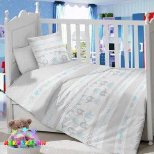 """Комплект в кроватку для новорожденных """"Слоники"""""""
