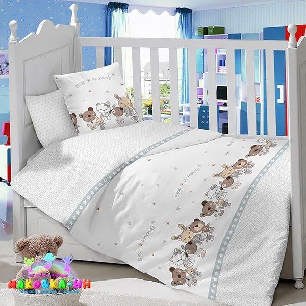 Комплект для детской кроватки новорожденного «Веселая компания»