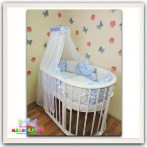 """Комплект в кроватку для новорожденных6 предметов""""Тучка"""""""