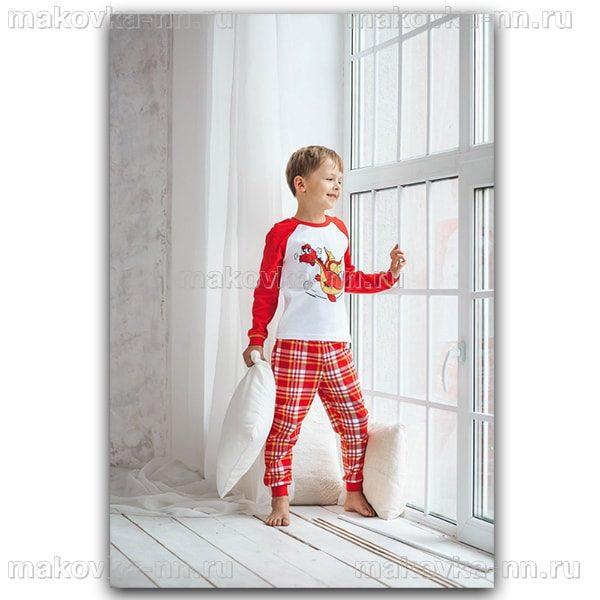 """Пижама для мальчика """"Дракончик"""" с длинным рукавом"""