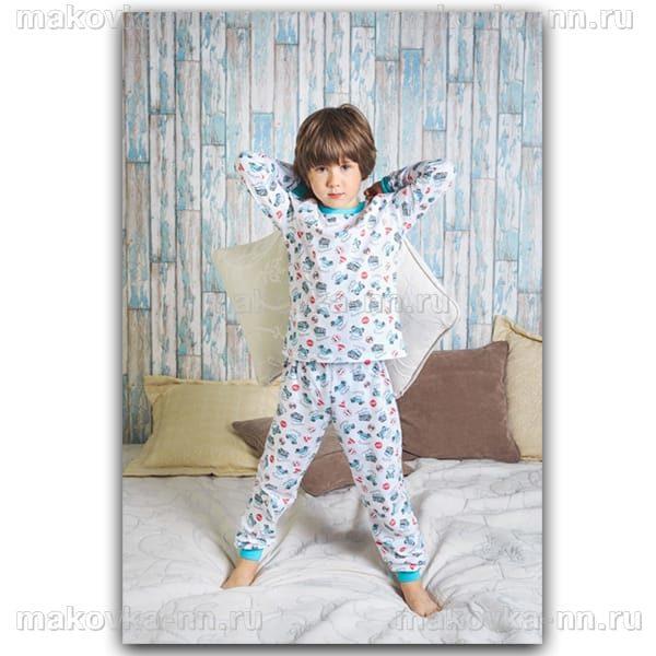 """Пижама для мальчика """"Автомир"""" с длинным рукавом"""