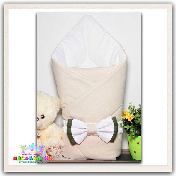 """Летний конверт-одеялона выписку """"Бант"""" ECO"""