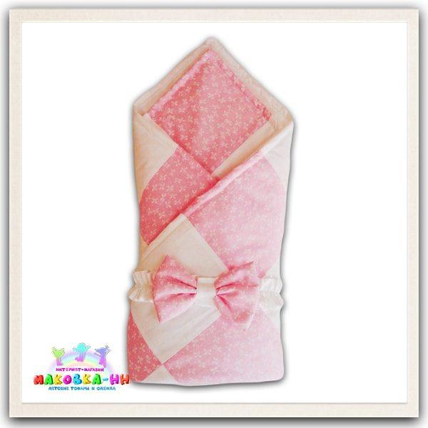 """Летнийконверт-одеялона выписку """"Лютик"""" розового цвета"""