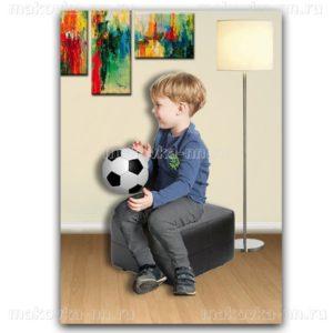 """Футболка для мальчиков """"Львенок"""" синего цвета"""