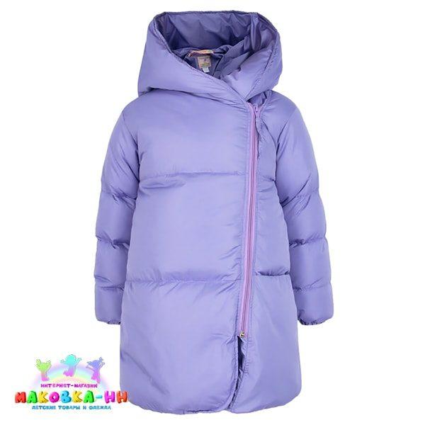 "Зимний пальто-пуховик для девочки ""Коко""сиреневого цвета"