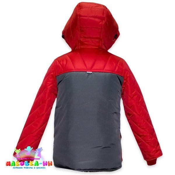 """Зимний комплект для мальчика """"Патриот"""": красно-серого цвета"""