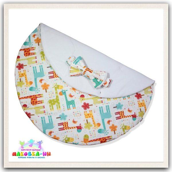 """Зимний конверт-одеялона выписку """"Жирафик"""""""