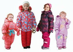 Детский зимний комплект или детский зимний комбинезон: выбор размера