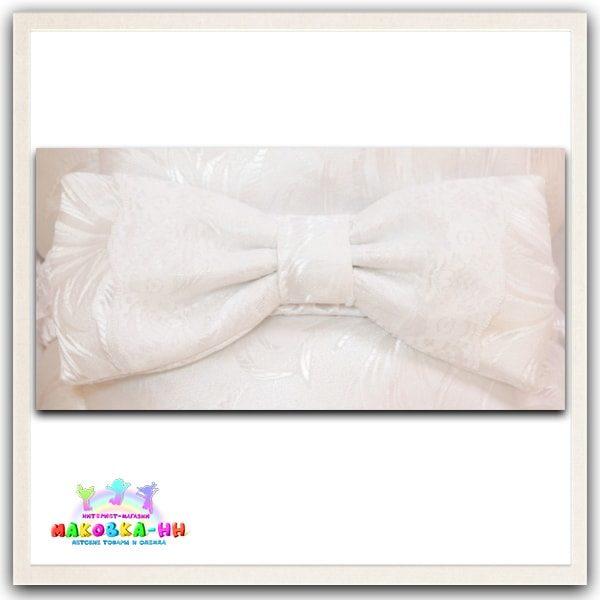 """Летний конверт-одеялона выписку """"Праздник"""" белого цвета"""