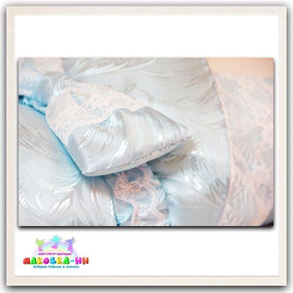 """Летний конверт-одеялона выписку """"Праздник"""" голубого цвета"""