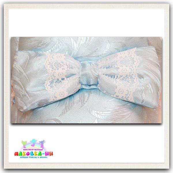 """Конверт-одеялона выписку """"Праздник"""" голубого цвета весна-осень"""