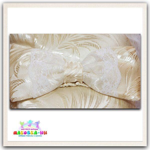 """Летний конверт-одеялона выписку """"Праздник"""" цвета шампань"""
