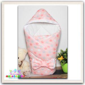 "Зимний конверт-одеялона выписку ""Микс"" розового цвета"