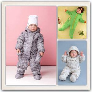 Комбинезоны для новорожденных: весна-осень