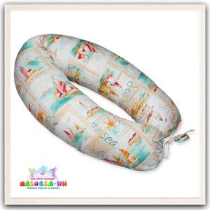 """Подушка для беременных """"Морской бриз"""" из хлопка"""