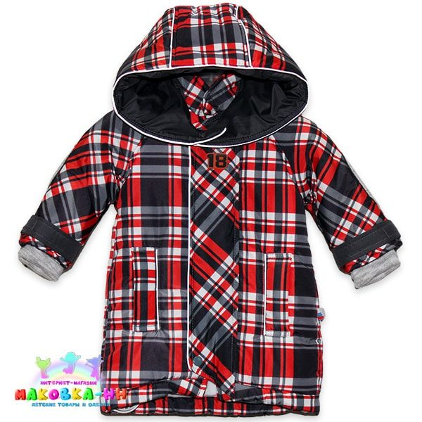 """Куртка-парка для мальчика """"Шотландец"""" цвет красный"""