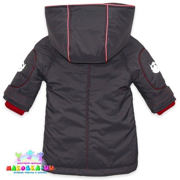 """Куртка-парка для мальчика """"НЛО"""" цвет графит"""