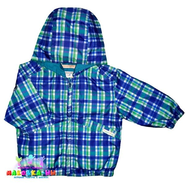 """Куртка для мальчика """"Денди"""" принт клетка"""