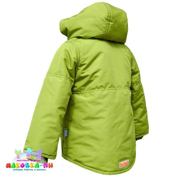 """Куртка для мальчика """"Классика"""" цвет киви"""