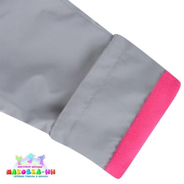"""Ветровочный комплект для девочки """"Галя"""" розовый/серый"""