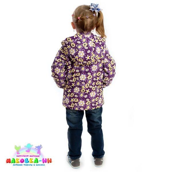 """Куртка для девочки весна-осень """"Нева"""" фиолетовый"""