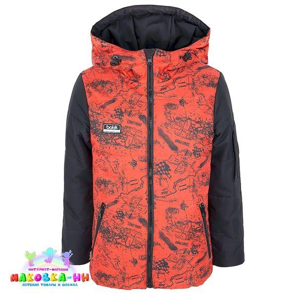 """Куртка для мальчика """"Бэн"""" оранжевого цвета весна/осень"""