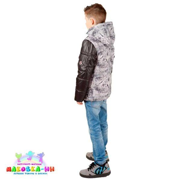 """Куртка для мальчика """"Бэн"""" серого цвета весна/осень"""