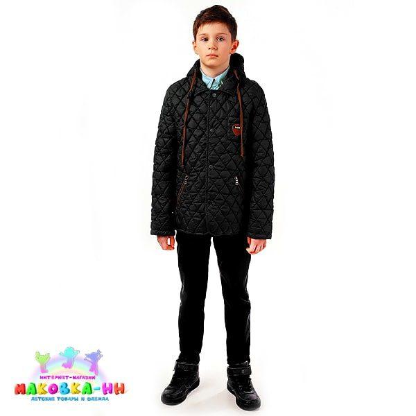 """Куртка для мальчика """"Егор"""" черный"""