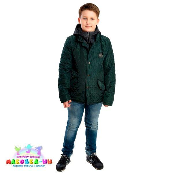 """Куртка для мальчика """"Сергей"""" весна/осень тем.бирюза"""