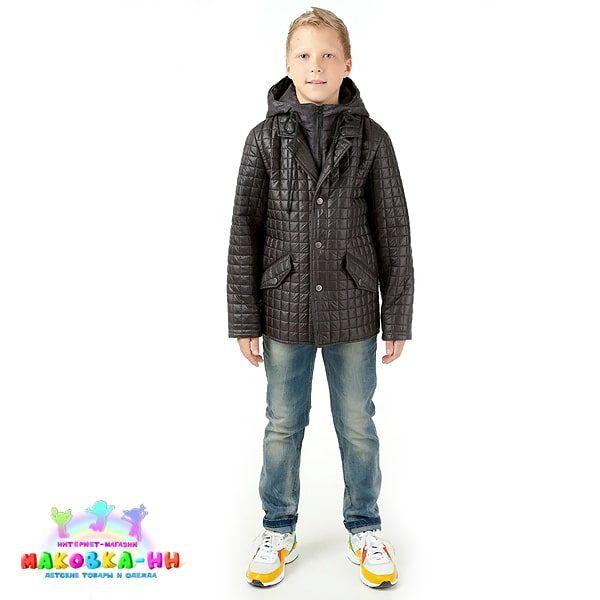 """Куртка для мальчика """"Сергей"""" весна/осень черный"""