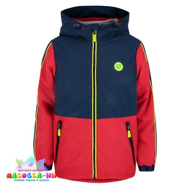 """Куртка для мальчика весна-осень """"Костя"""" цвет синий/красный"""