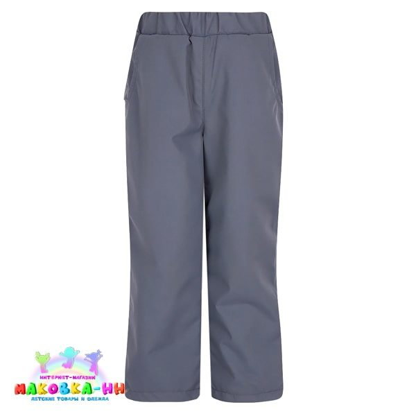 """Демисезонные брюки для девочки """"Слава"""": цвет графит"""