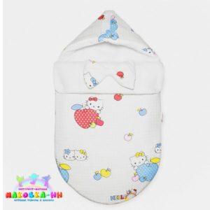 """Конверт на выписку для новорожденных """"Hello Kitty"""""""
