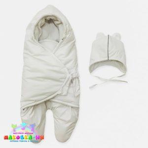 """Конверт для новорожденных """"МимиМотик"""" Белый"""